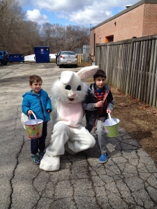 We prefer to meet our Easter bunnies in back alleys.