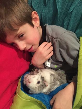 Cooper cuddling with Katie